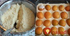 Dokonalé letné pečenie - tvarohový koláčik s marhuľami, bez miesenia cesta. nasypať na plech, pridať tvaroh, ovocie a je to. Žiadna práca.