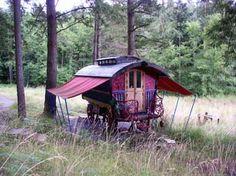 Orcas Island Gypsy Camp. Good awning installation.