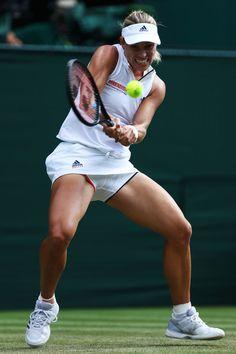 Angelique Kerber - Angelique Kerber Photos - Day Six: The Championships - Wimbledon 2018 - Zimbio Angelique Kerber, Tennis Shorts, Tennis Clothes, Us Open, Australian Open, Wimbledon, Angie Kerber, Lawn Tennis, Movie Posters