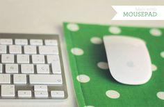 Super easy fabric scrap mousepad tutorial... http://www.howjoyful.com/2012/01/super-easy-fabric-scrap-mousepad-tutorial/