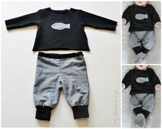 Sewing baby clothes boy life Ideas for 2019 Jeans Material, Sewing Baby Clothes, Baby Sewing, Baby Boy Fashion, Kids Fashion, Baby Boy Outfits, Kids Outfits, Diy Vetement, Baby Jeans