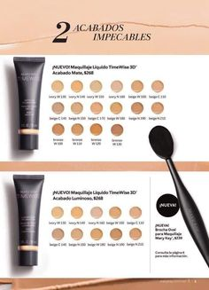 Maquillaje Líquido Timewise 3D, Brocha Oval para Maquillaje #MaryKay #Timewise Imagenes Mary Kay, Mary Kay Ash, Mary Kay Cosmetics, Bronze, Cc Cream, Lip Makeup, Eyeshadow, Make Up, Skin Care