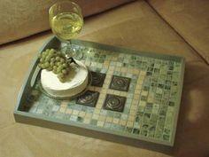 Mosaic Breakfast Tray  http://www.favecrafts.com/Kitchen-Decor/Mosaic-Breakfast-Tray-from-Diamond-Tech//ml/1