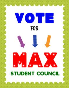 Create a Vote for Student Council Poster | Election Campaign Poster Ideas