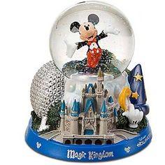 Disney Snow Globe - Mickey Mouse - Park Icons