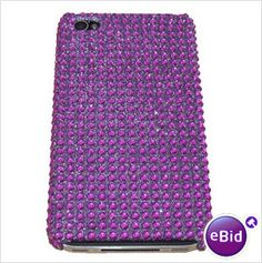 Purple Gem Case & Screen Protector For Apple iPhone 4 4G 4S  Only £5.99  Many other gem cases available!