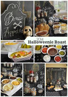 Halloweenie Roast 2014 and a build your own hot dog bar.