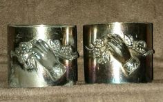 2 Vintage Silver Plated Wedding Napkin by oldnsalvagedtreasure, $10.00