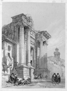 David Roberts (1796-1864) - Ancient Roman Gateway, Cordova, 1837