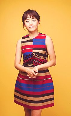 Moon Geun Young wearing a really cool dress. Don't have the designer name, unfortunately.