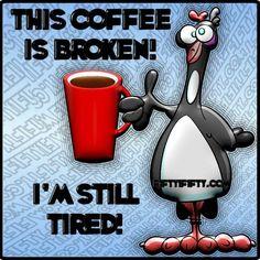 The Coffee IS Broken I AM Still Tired <3 my ☕