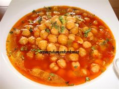 Nohut yemegi~> chickpeas food