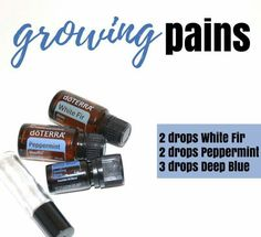 Essential oil blend for growing pains.