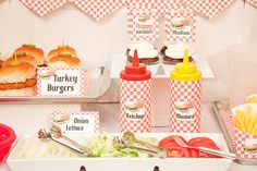 BURGER-n-FRIES Collection - Printable Barbecue Décor. $20.00, via Etsy.