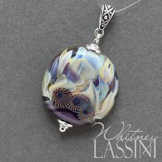 Lampwork Bead Pendant with antique silver bail by Whitney