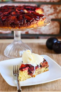 Brown Butter Plum Upside Down Cake | Oh my goodness.