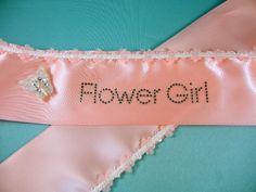 Flower Girl Sash. Available on our website! #wedding #flowergirl #pink #sash