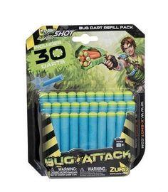BUG ATTACK Bug Dart Refill Pack Kids Foam Darts 30 pack for Dart Gun New in Toys & Games, Outdoor Toys & Activities, Garden Games & Activities | eBay
