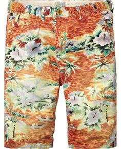 Shorts chinos ligeros estampados | Shorts | Ropa para hombre en Scotch & Soda