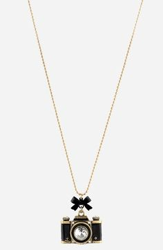 cute   Betsey Johnson Long Camera Pendant Necklace available at #Nordstrom