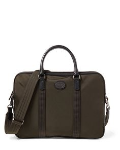 Polo Ralph Lauren Men's Thompson Briefcase In Green Lauren Thompson, Ralph Lauren Uk, Mens Travel Bag, Briefcase For Men, Work Bags, Leather Bag, Leather Crossbody, Man Shop, Hand Bags