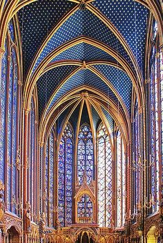 Beautiful Sainte Chapelle, Ile de France, Paris, France