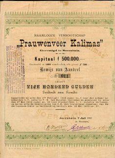 Oude Aandelen :: Scheepvaart Prauwenveer Kalimas http://oude-aandelen.nl/scheepvaart.html