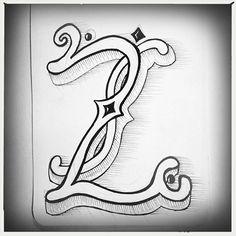 Z grote letter handlettering