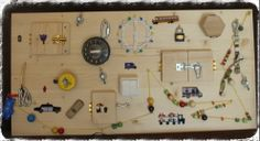 latch board, discovery board - great handmade gift for boy