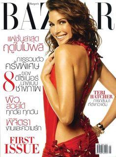 Harper's Bazaar Thailand. First issue March 2005. Teri Hatcher.