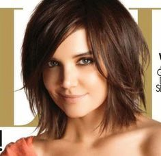 Sexy, tousled medium cut for almost any shape face. Great for straight, fine hair or thick hair that can be texturized. Looks great on Katie Holmes and would look great on alot of women.