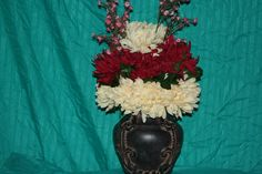 silk arrangement selling for $120.00