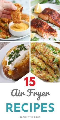15 Quick and Easy Air Fryer Recipes To Make So You Don't Have To Heat Up The Kitchen Fun Recipes, Popular Recipes, Amazing Recipes, Dinner Recipes, Easy Weeknight Meals, Frugal Meals, Kids Meals, Easy Meals, Multi Cooker Recipes