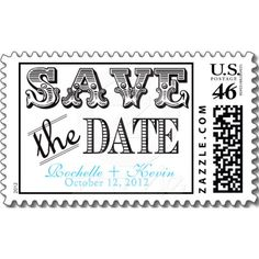 Vintage Save the Date Stamp Stamps - wedding stamps