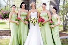 Pink and Green Wedding   Spring Wedding   Perfect Wedding Guide Wedding Blog - love the delicate touches of green and they are all so pretty