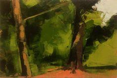 Trees, Shade, oil, 4 x 6, © Mary Bentz Gilkerson