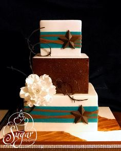 Western wedding cake by Rebecca Sutterby via flickr #weddingcake #western