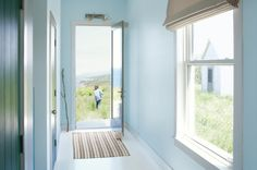 Benjamin Moore selected Breath of Fresh Air as its Color of the Year 2014 traditional entry by Benjamin Moore