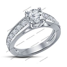 Size 5/6/7/8/9/10 Round Cut Sim Diamond Silver Plated Engagement & Wedding Ring #EngagementRing
