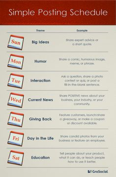 A Daily Social Media Posting Schedule Any Dummy Can Follow #Infographic
