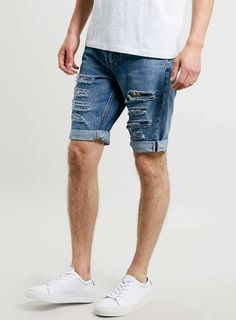Bleach Ripped Denim Shorts - Men's Shorts - Clothing | Pants/Jeans ...