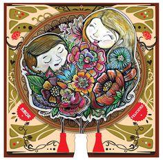 #ilustracion para #cocacola por los 100 años de una botella especial! #illustration #art #paint #family #flowers #love #happines