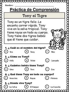 20 Spanish Reading Comprehension Stories comprensión by The Bilingual Hut Spanish Lessons For Kids, Learning Spanish For Kids, Spanish Teaching Resources, Spanish Language Learning, Spanish Activities, Language Arts, Learning Italian, French Lessons, German Language
