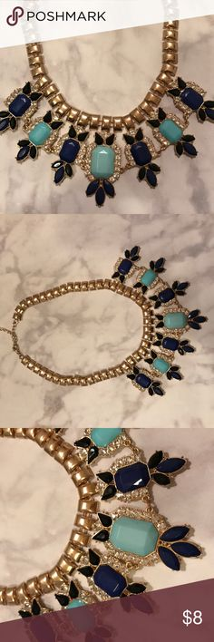Rhinestone Statement Necklace Used once, in perfect condition. Similar to J.Crew styles. J. Crew Jewelry Necklaces