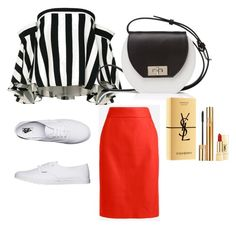 My First Polyvore Outfit by rita-sk on Polyvore featuring polyvore fashion style Milly J.Crew Vans Joanna Maxham Yves Saint Laurent clothing