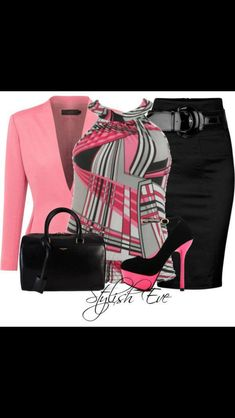 Work fashion - pink and grey Komplette Outfits, Classy Outfits, Casual Outfits, Fashion Outfits, Womens Fashion, Work Outfits, Buckle Outfits, Fashion Clothes, Fashion Tips