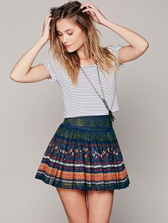 Free People FP ONE Thai Print Mini Skirt at Free People Clothing Boutique