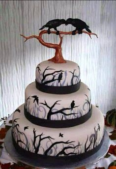 Bangaboarlander: Fan Art - Raven Wedding Cake