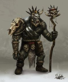 Orc Shaman by SaturnoArg on DeviantArt