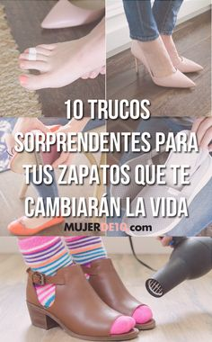 10 trucos sorprendentes para tus zapatos que te cambiarán la vida Diy Beauty, Beauty Hacks, Diy Fashion, Womens Fashion, Fashion Tips, Shabby Chic, Shoe Boots, Shoes, Teeth Whitening